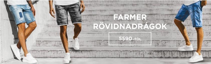Férfi farmer rövidnadrágok