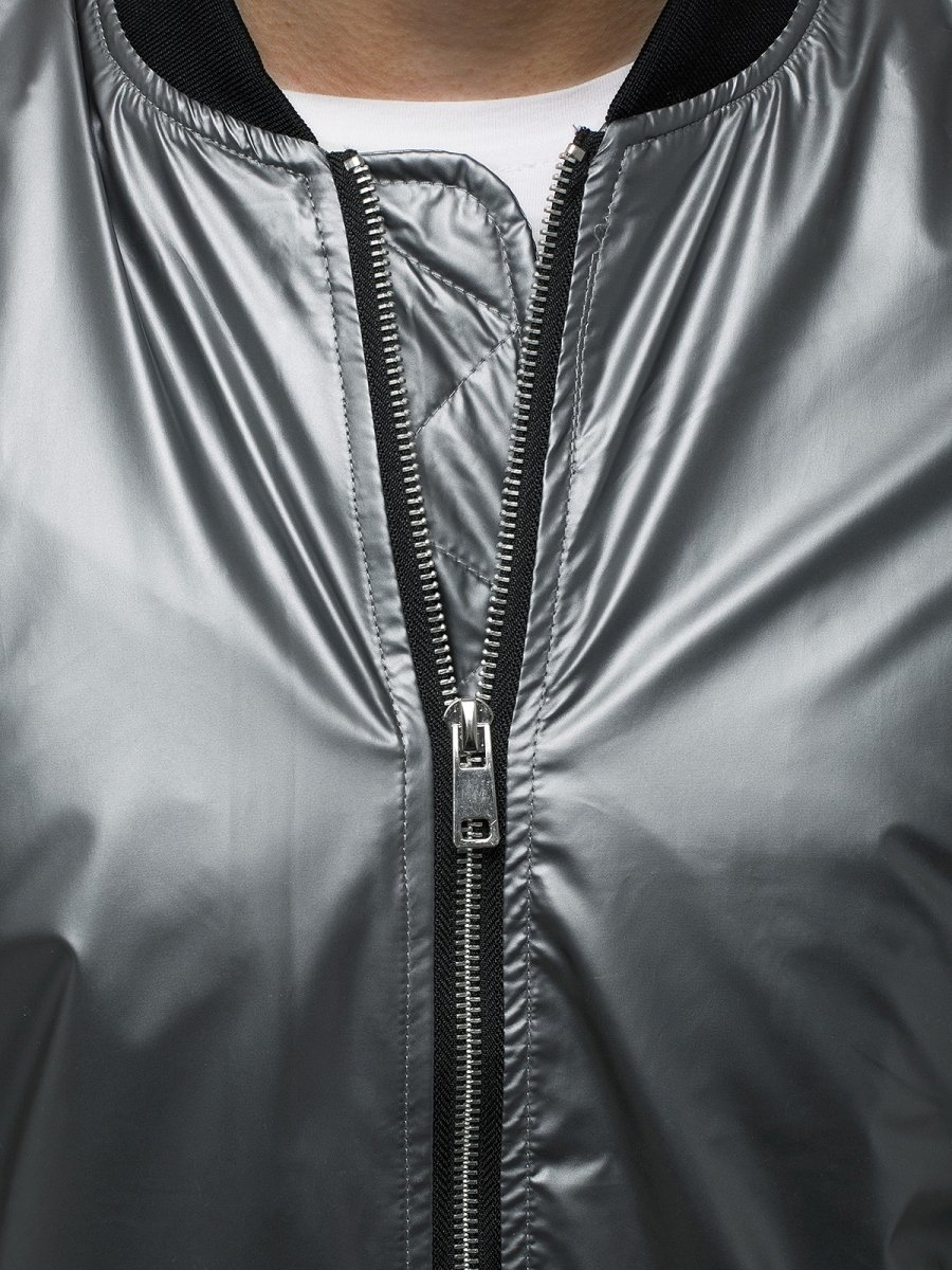 Férfi dzseki ezüst OZONEE N6147 | OZONEE.HU