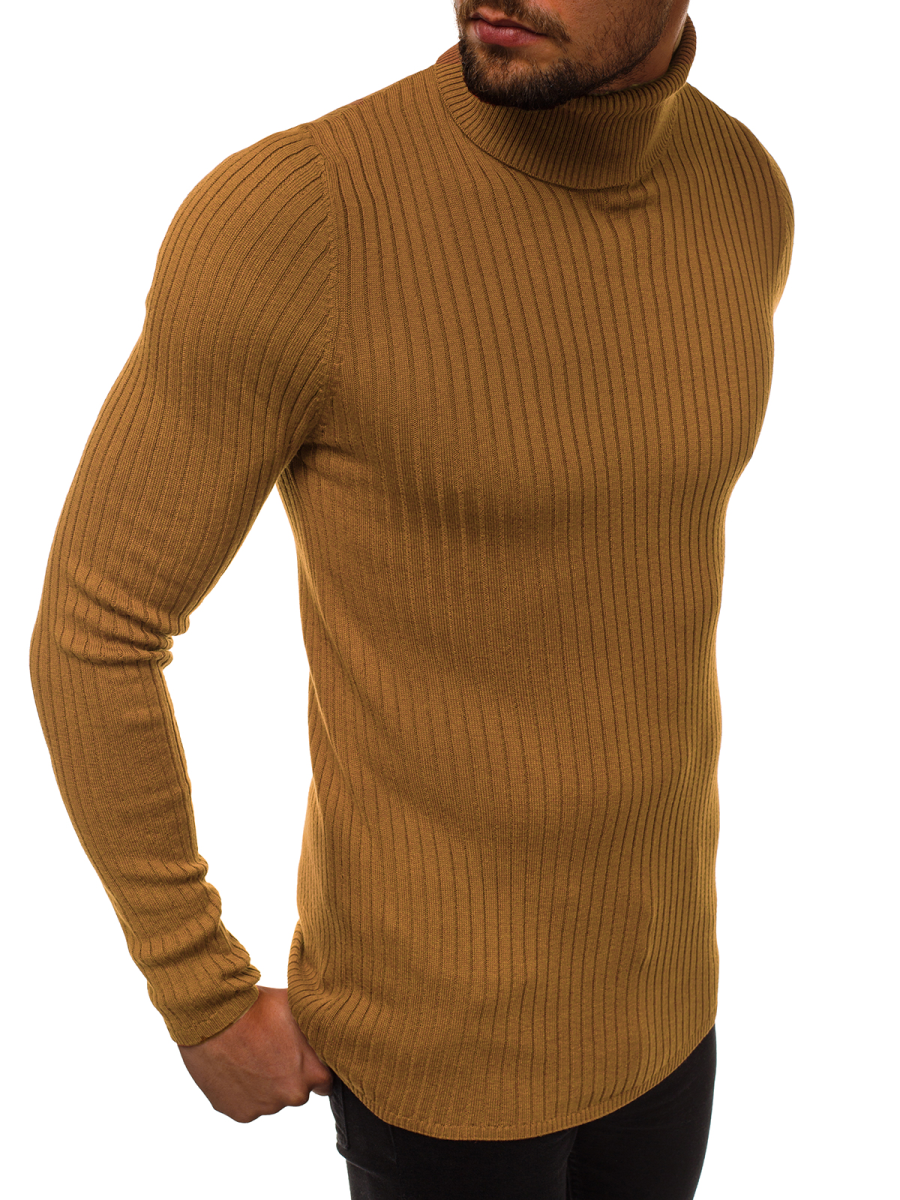 Férfi pulóver Barna OZONEE B95007
