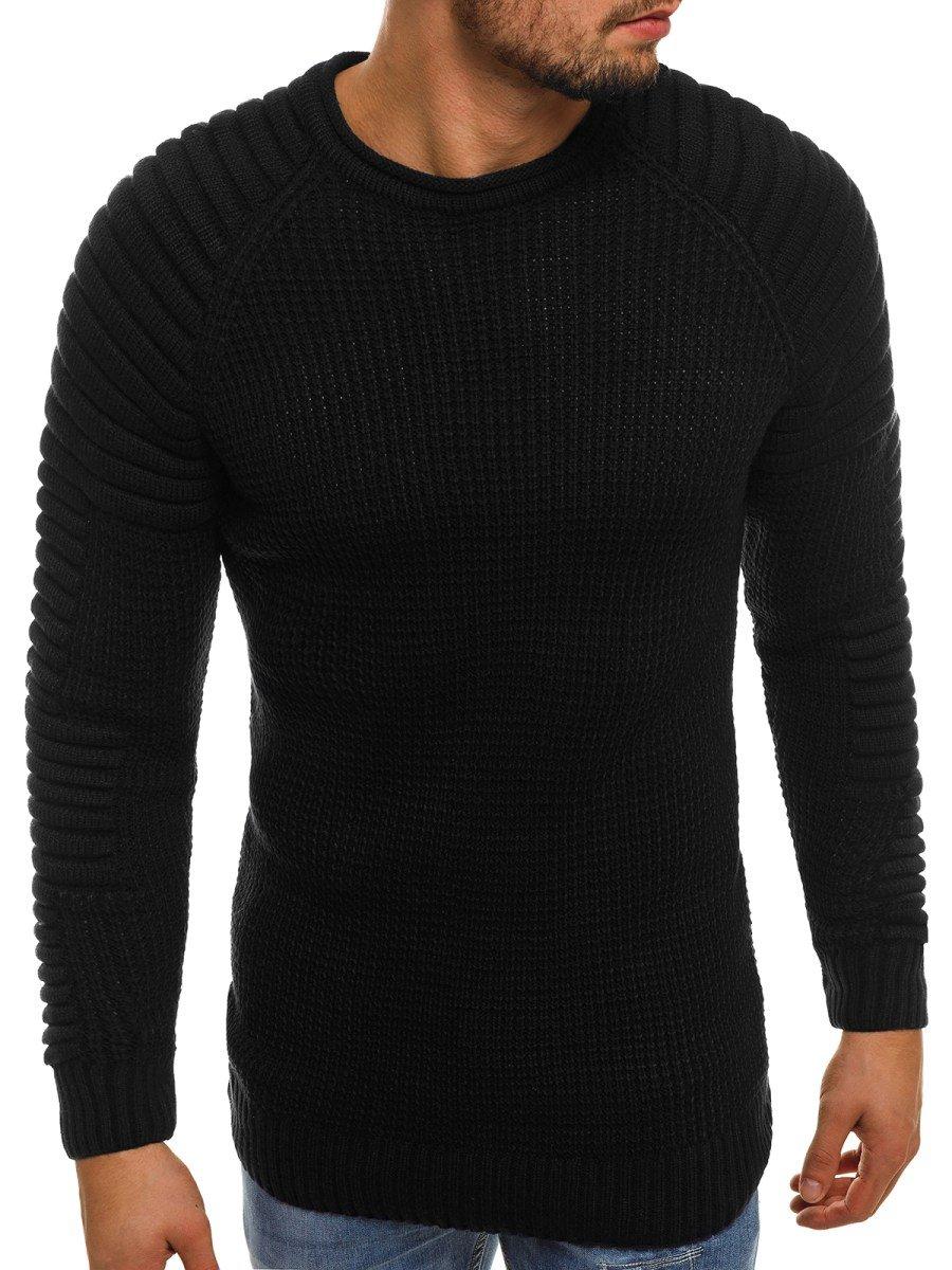 ... OZONEE 2028 Férfi pulóver Fekete ... dd381a404d