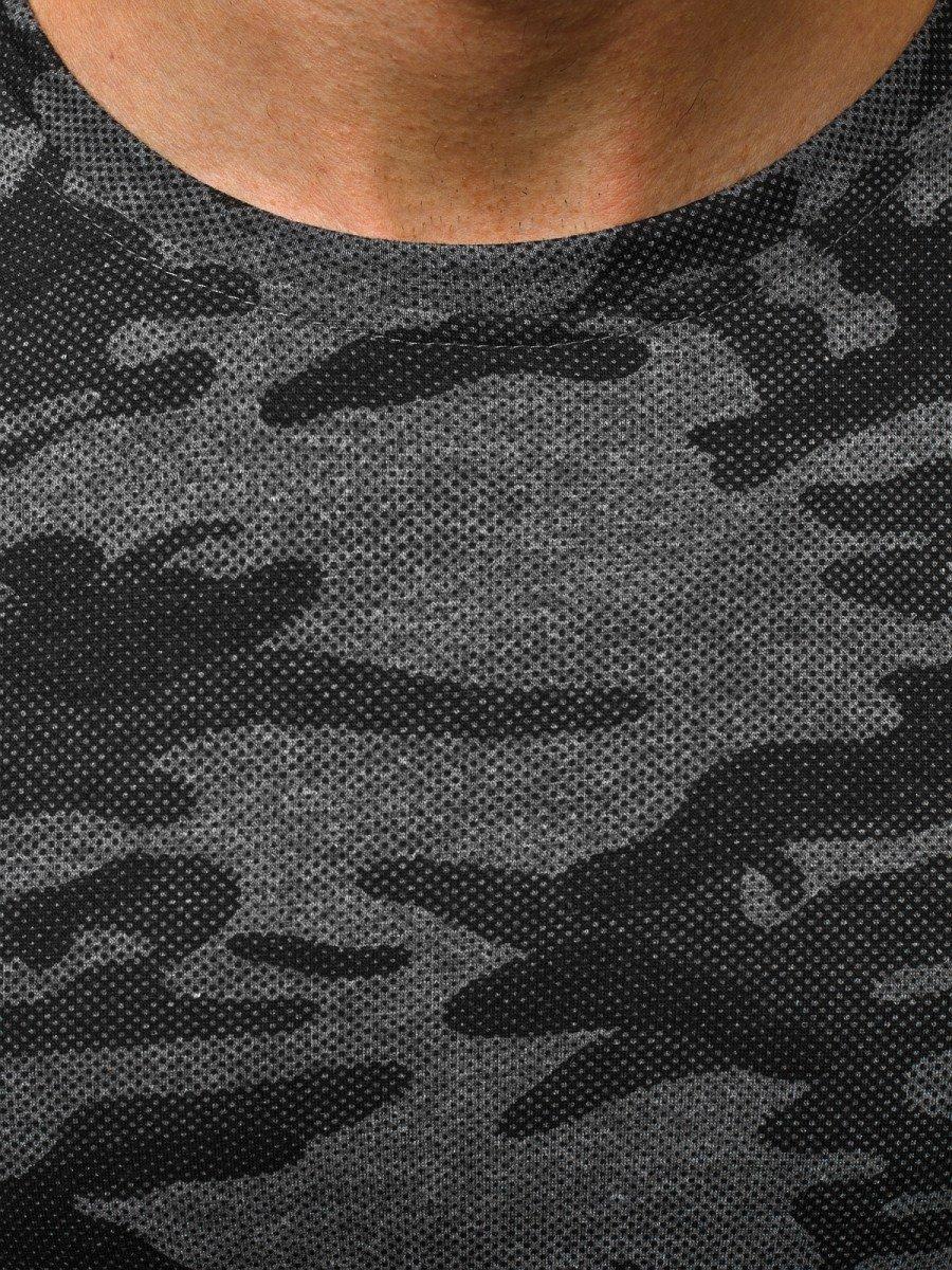 Grafit szürke terepmintás hosszú ujjú póló OZONEE JS2088 20