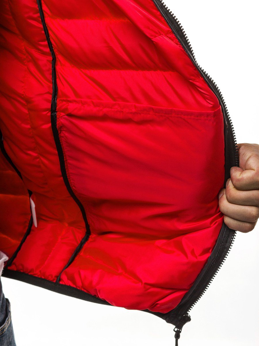 ... OZONEE JS SM28 Férfi mellény Piros ... fff2c3534c