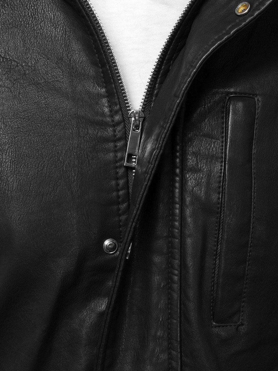 OZONEE N5573 Férfi dzseki Fekete Barna | OZONEE.HU