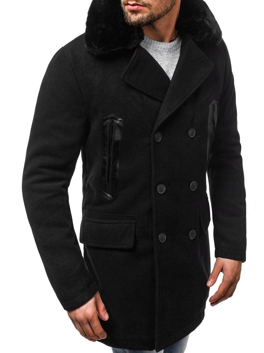 ... OZONEE O 88872 Férfi kabát Fekete ... 8c0291be44