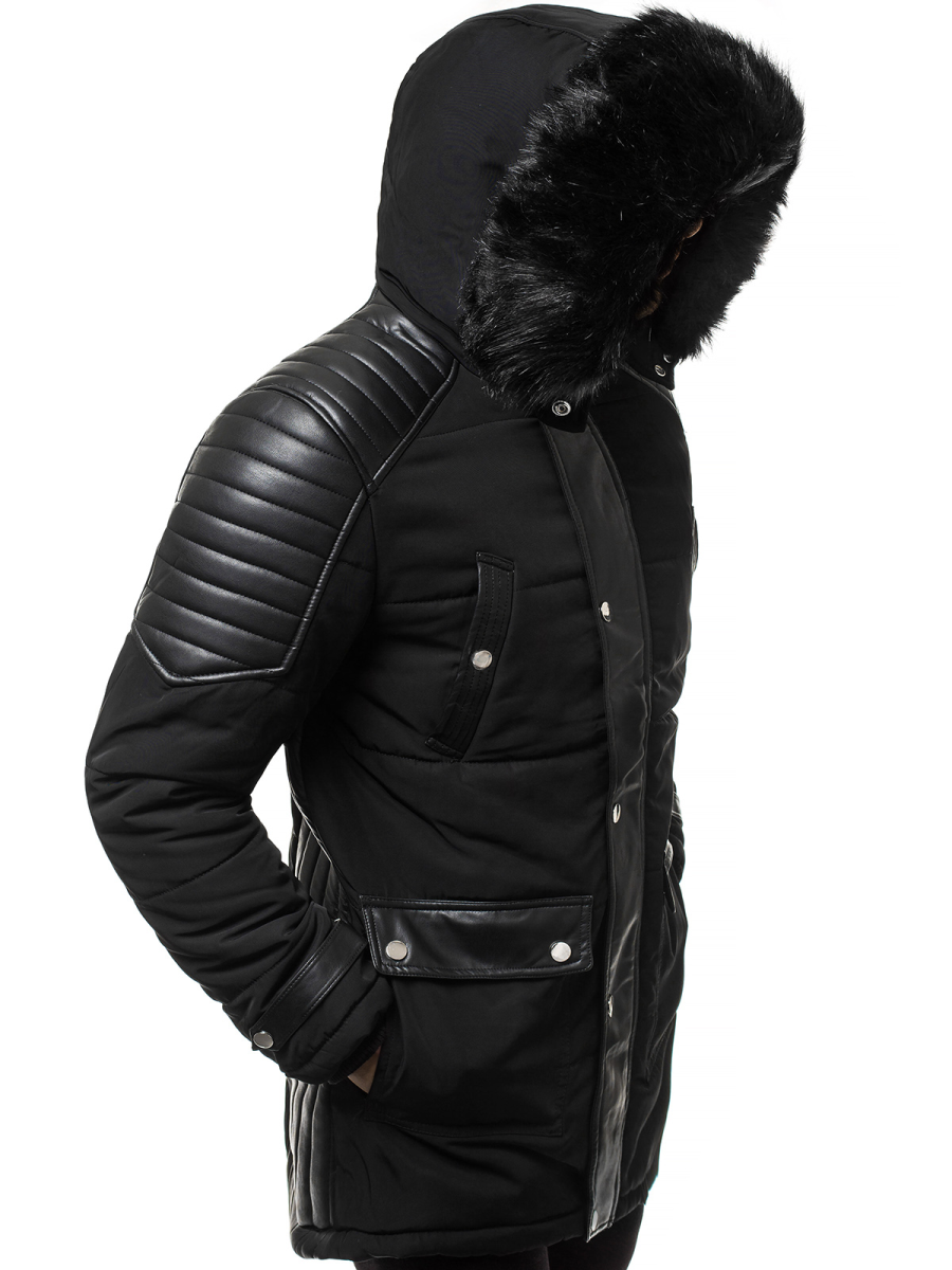 Téli dzseki Fekete OZONEE O88852Z | OZONEE.HU